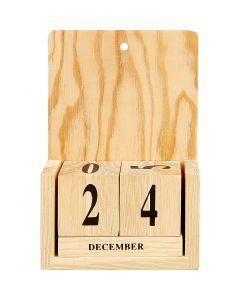 Calendario con fechas en cubos, medidas 13x5,5x19,2 cm, 1 set