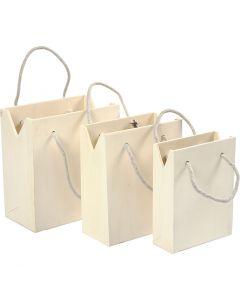 Bolsa con asa, A: 12+14+16 cm, profundidad 5+7+9 cm, A: 16+16,5+18 cm, 3 ud/ 1 set