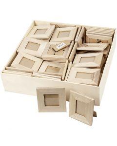 Marcos, medidas 10x10+9x11 cm, 80 ud/ 1 paquete