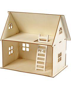 Construcción casa de muñeca, A: 25 cm, medidas 18x27 cm, 1 ud