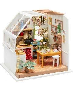 Habitación en miniatura DIY, Cocina, A: 18,7 cm, A: 19 cm, 1 ud