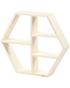 Estante de madera, A: 25 cm, profundidad 5 cm, A: 28,5 cm, 1 ud