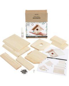 Casa de pájaro, A: 13 cm, profundidad 14,5 cm, A: 16 cm, 1 ud/ 1 paquete