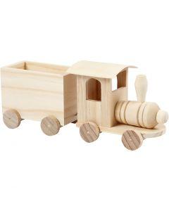 Tren de juguete con vagón, A: 9,5 cm, L. 21,5 cm, A: 6,5 cm, 1 ud