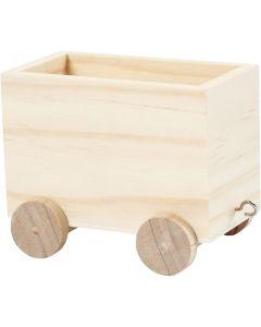 Vagón de tren, A: 8 cm, L. 9,5 cm, A: 6,5 cm, 1 ud