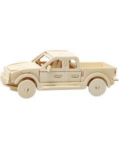 Figura de construcción 3D, camioneta, medidas 19,5x8x12 cm, 1 ud