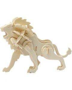 Figura de construcción 3D, león, medidas 18,5x7x7,3 , 1 ud