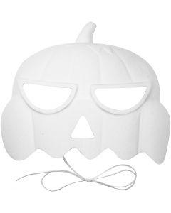 Máscara de calabaza, A: 15 cm, A: 19 cm, 1 ud