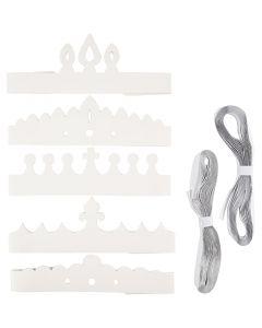 Coronas, A: 10-16,5 cm, L. 60 cm, 230 gr, blanco, 50 ud/ 1 paquete