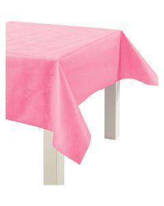 Mantel tela de imitación, A: 125 cm, 70 gr, rosa, 10 m/ 1 rollo