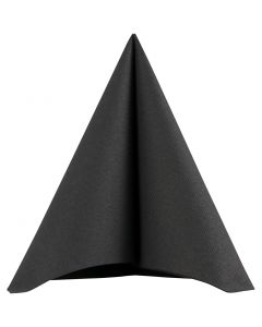 Servilleta, medidas 40x40 cm, 60 gr, negro, 20 ud/ 1 paquete