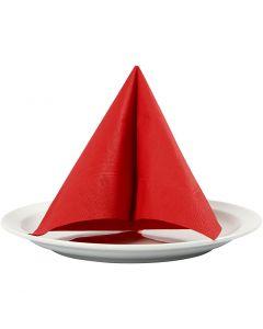 Servilleta, medidas 33x33 cm, rojo, 20 ud/ 1 paquete