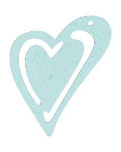 Corazón , medidas 55x45 mm, turquesa, 10 ud/ 1 paquete