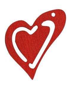 Corazón, medidas 25x22 mm, rojo, 20 ud/ 1 paquete