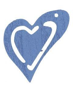 Corazón, medidas 25x22 mm, azul claro, 20 ud/ 1 paquete