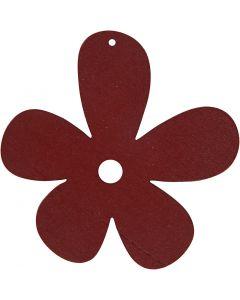 Flor, medidas 57x51 mm, burdeos, 10 ud/ 1 paquete