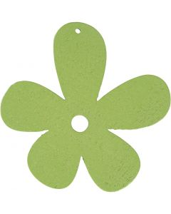Flor, medidas 57x51 mm, verde lima, 10 ud/ 1 paquete