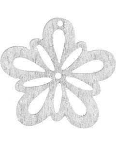 Flor, dia: 27 mm, blanco, 20 ud/ 1 paquete