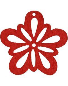 Flor, dia: 27 mm, rojo, 20 ud/ 1 paquete