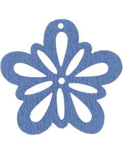 Flor, dia: 27 mm, azul claro, 20 ud/ 1 paquete