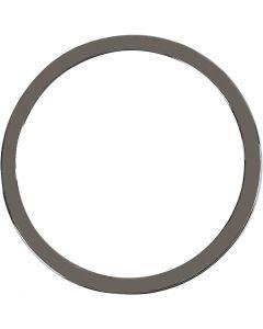 Colgante , dia: 30 mm, gris oscuro metalizado, 2 ud/ 1 paquete