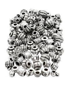 Variedad de abalorios, medidas 7-11 mm, medida agujero 3 mm, 200 gr/ 1 paquete