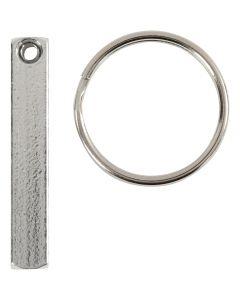 Kit para llavero, medidas 40x5 mm, 6 ud/ 1 paquete