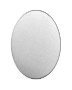 Etiqueta, Óvalo, medidas 18x13 mm, grosor 1,3 mm, aluminio, 15 ud/ 1 paquete