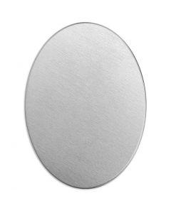 Etiqueta, Óvalo, medidas 25x18 mm, grosor 1,3 mm, aluminio, 15 ud/ 1 paquete