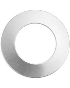 Etiqueta, Círculo, dia: 32 mm, medida agujero 19,32 mm, grosor 1,3 mm, aluminio, 9 ud/ 1 paquete
