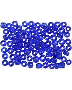 Rocalla cuenta, dia: 4 mm, medidas 6/0 , medida agujero 0,9-1,2 mm, azul cobalto, 500 gr/ 1 paquete
