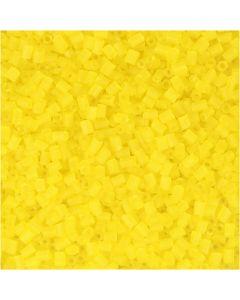 2 cortes, dia: 1,7 mm, medidas 15/0 , medida agujero 0,5 mm, amarillo transparente, 500 gr/ 1 bolsa