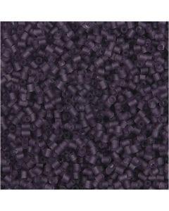 2 cortes, dia: 1,7 mm, medidas 15/0 , medida agujero 0,5 mm, frosted purple, 500 gr/ 1 bolsa