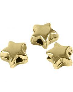 Cuenta espaciadora, medidas 5,5x5,5 mm, medida agujero 1 mm, dorado/plateado, 3 ud/ 1 paquete