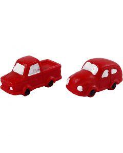 Pequeñas figuras, A: 20 mm, L. 40 mm, rojo, 2 ud/ 1 paquete
