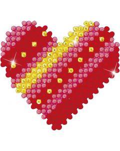 Diamond Dotz, Corazón de patchwork, medidas 7,6x7,6 cm, 1 paquete