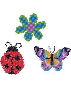 Diamond Dotz, Flor, mariposa, mariquita, medidas 18x10 cm, 1 paquete
