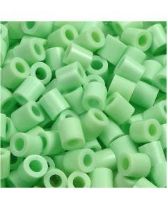 Fuse Beads, medidas 5x5 mm, medida agujero 2,5 mm, medium, verde pastel (32252), 1100 ud/ 1 paquete
