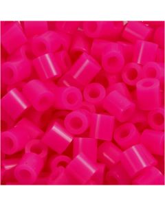 Fuse Beads, medidas 5x5 mm, medida agujero 2,5 mm, medium, cereza (32258), 1100 ud/ 1 paquete
