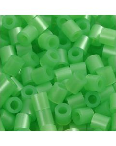Fuse Beads, medidas 5x5 mm, medida agujero 2,5 mm, medium, verde perla (32240), 1100 ud/ 1 paquete