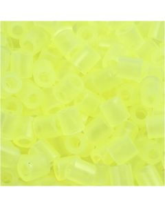 Fuse Beads, medidas 5x5 mm, medida agujero 2,5 mm, medium, amarillo neón (32223), 1100 ud/ 1 paquete