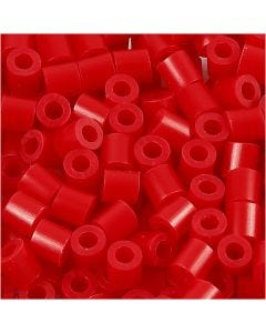 Fuse Beads, medidas 5x5 mm, medida agujero 2,5 mm, medium, rojo (32231), 1100 ud/ 1 paquete