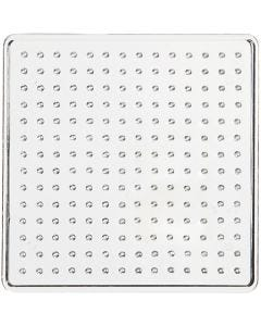 Base con clavijas, medidas 7x7 cm, transparente, 1 ud