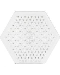 Base con clavijas, A: 7,5 cm, transparente, 1 ud