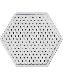 Tableros de clavijas, JUMBO - hexágono, JUMBO, transparente, 1 ud