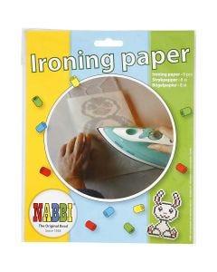 Nabbi papel para planchado, medidas 16x16 cm, transparente, 8 hoja/ 1 paquete