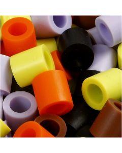 Fuse Beads, medidas 10x10 mm, medida agujero 5,5 mm, JUMBO, mix de otoño, 2450 stdas/ 1 paquete