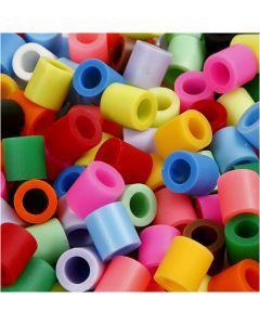 Fuse Beads, medidas 10x10 mm, medida agujero 5,5 mm, JUMBO, colores adicionales, 3200 stdas/ 1 paquete