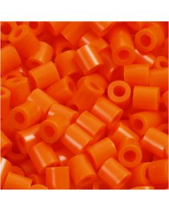 PhotoPearls, medidas 5x5 mm, medida agujero 2,5 mm, naranja transparente (13), 1100 ud/ 1 paquete