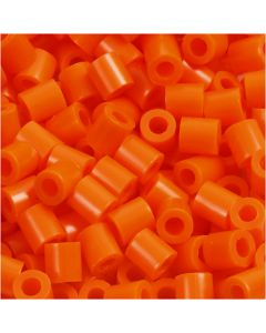 PhotoPearls, medidas 5x5 mm, medida agujero 2,5 mm, naranja transparente (13), 6000 ud/ 1 paquete